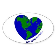 Love Your Mother Oval Sticker (50 pk)