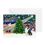Xmas Magic & Collie Greeting Cards (Pk of 20)