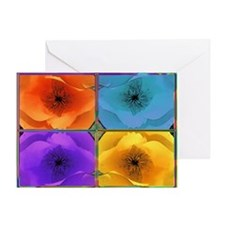 Four Poppies Greeting Card