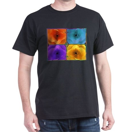 Four Poppies Dark T-Shirt