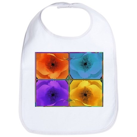 Four Poppies Bib