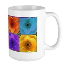 Four Poppies Large Mug