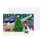 Xmas Magic & Bulldog Greeting Cards (Pk of 10)