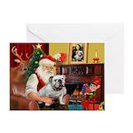 Santa's white EBD Greeting Card