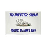 Trumpeter Swan Trapped In A Man's Body Rectangle M