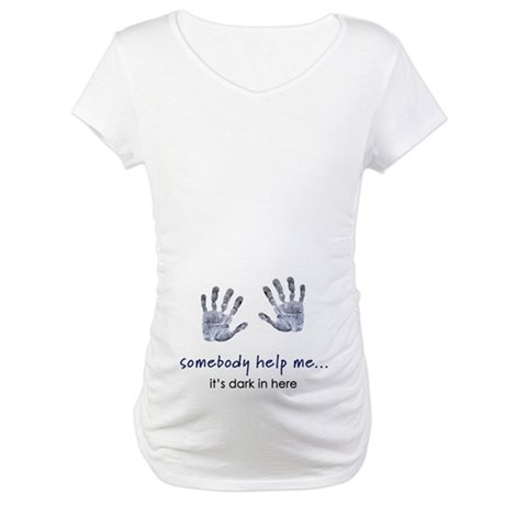 Baby Handprints Maternity T-Shirt