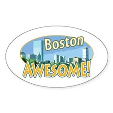 Awesome Boston Oval Decal