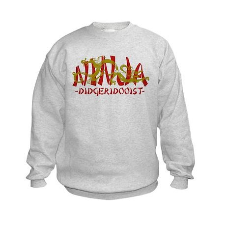 Dragon Ninja Didgeridooist Kids Sweatshirt