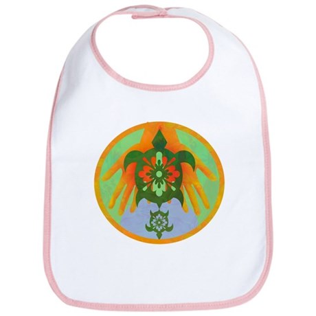 Turtle Hands Bib