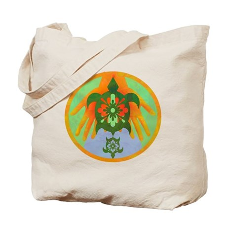 Turtle Hands Tote Bag