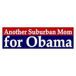 Suburban Mom for Obama car sticker