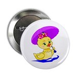 "Baby Girl Duck 2.25"" Button (100 pack)"