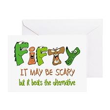 50th birthday gifts alternative Greeting Card