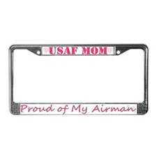 USAF MOM, Proud of My Airman License Plate Frame