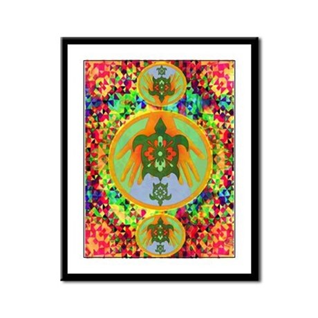 Turtle Hands Framed Panel Print