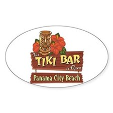 Panama City Beach Tiki Bar - Oval Decal