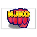 New Jersey Knockouts Rectangle Sticker