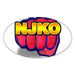 New Jersey Knockouts Oval Sticker