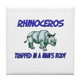Rhinoceros Trapped In A Man's Body Tile Coaster