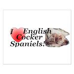 Harry English Cocker Spaniel Small Poster