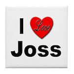 I Love Joss for Joss Lovers Tile Coaster