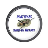 Platypus Trapped In A Man's Body Wall Clock