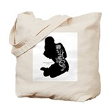 Tattooed Silhouette Girl Tote Bag