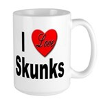 I Love Skunks for Skunk Lovers Large Mug