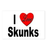I Love Skunks for Skunk Lovers Postcards (Package