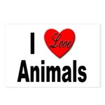 I Love Animals for Animal Lovers Postcards (Packag