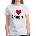 I Love Animals (Front) Women's T-Shirt