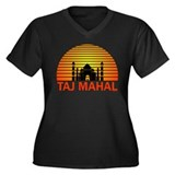 Taj Mahal. Women's Plus Size V-Neck Dark T-Shirt