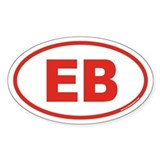 EB Euro Oval Sticker (Red)