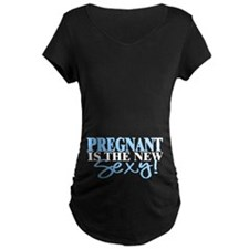 Pregnant Is The New Sexy (Blue) T-Shirt