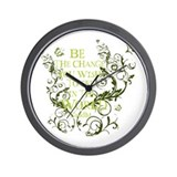 Gandhi Vine - Be the change - Green Wall Clock
