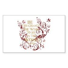 Gandhi Vine - Be the change - Burgundy Decal