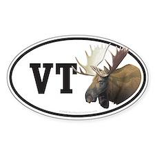 VT Vermont Moose car bumper sticker decal (Oval)