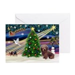 XmasSunrise/Dachshund LH Greeting Cards (Pk of 20)