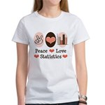 Peace Love Statistics Statistician Women's T-Shirt