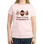 Peace Love Statistics Women's Light T-Shirt
