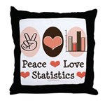 Peace Love Statistics Statistician Throw Pillow