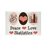 Peace Love Statistics Rectangle Magnet (100 pack)