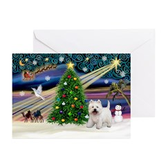 Xmas Magic &amp; Westie Greeting Cards (Pk of 20)
