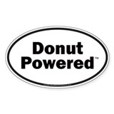 Donut Powered Car Bumper Oval Bumper Stickers