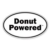 Donut Powered Car Bumper Oval Decal