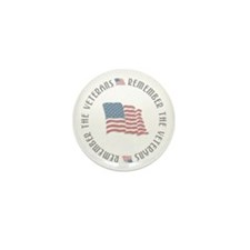 Remember the Veterans Mini Button (100 pack)