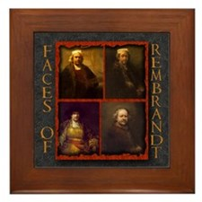 Faces of Rembrandt Framed Tile