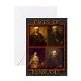 Faces of Rembrandt Greeting Card