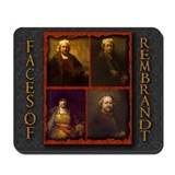 Faces of Rembrandt Mousepad