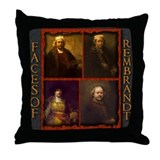 Faces of Rembrandt Throw Pillow